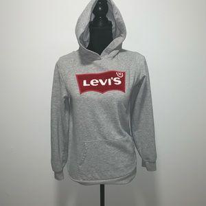 Levi's hoodie size XL kids XS women's